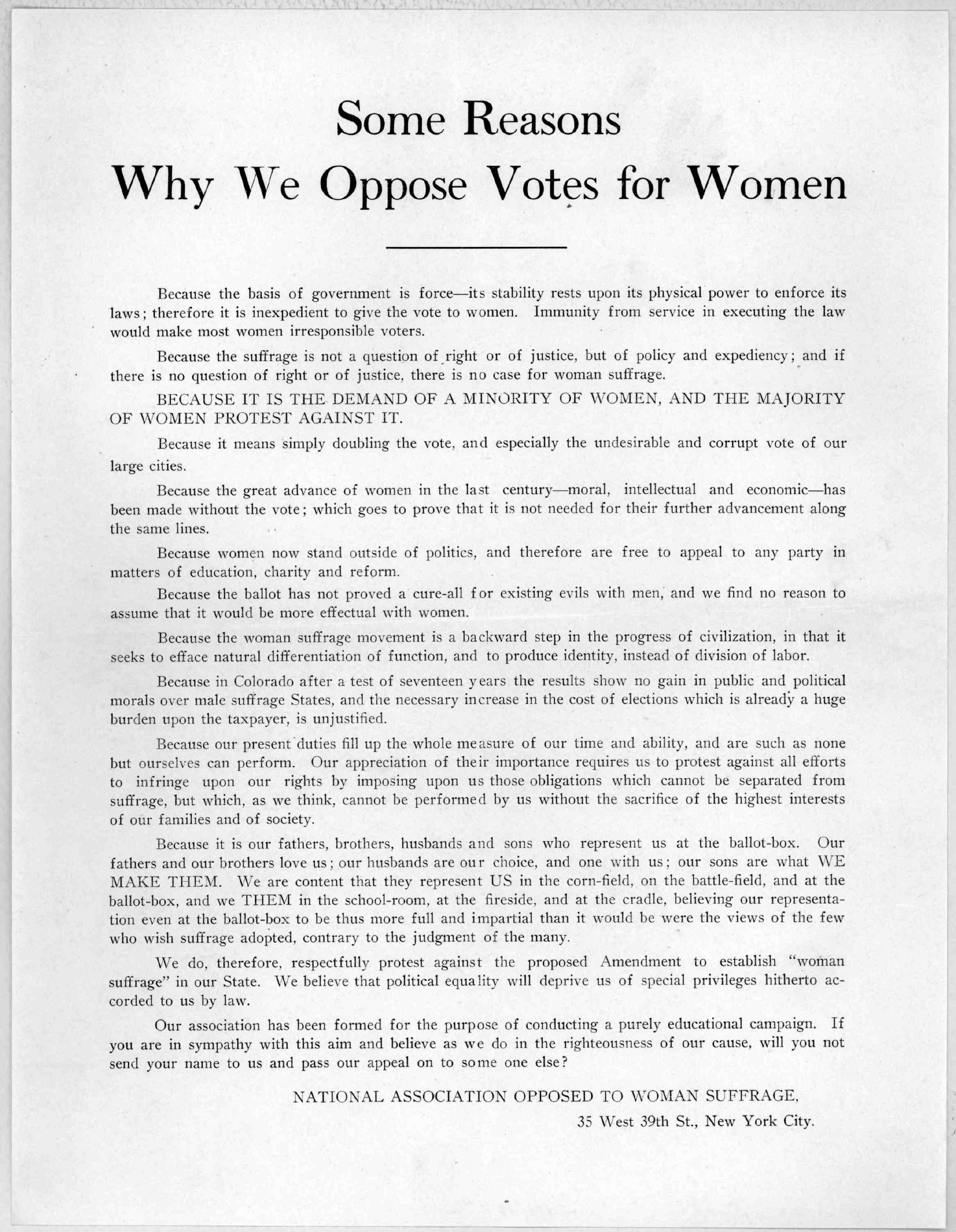womens suffrage essay The international woman suffrage association: the international woman suffrage association, established between 1899 and 1902, held its first meeting in berlin in.