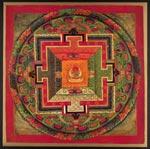 """Three-Deity Mandala of the Auspicious Beginning"""