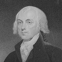 James Madison, President of the United States. (James Madison, fourth president of the U.S.)