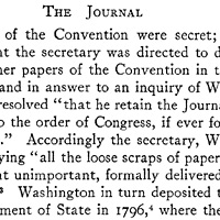 Farrand's Records home page - (from American Memory/Lawmaking/Farrand's Records). (This document shows that the Constitutional Convention had decided to meet again, on May 14, 1787.)