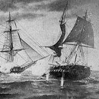 U.S.S. Constitution and H.M.S. Java