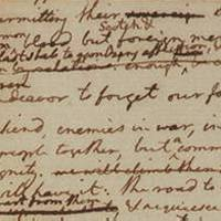 fragment from earliest known draft of the Declaration of Independence.
