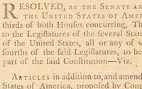 """Madison's Copy of the Proposed """"Bill of Rights"""""""