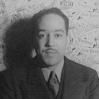 Twentieth century writer and poet Langston Hughes