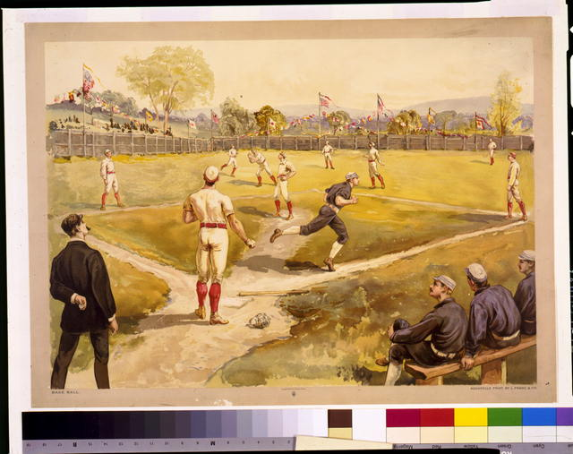 Base ball / Aquarelle print by L. Prang & Co.
