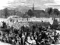 """Celebration of the abolition of slavery in the District of Columbia by the colored people in Washington, April 19, 1866"""