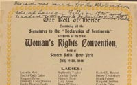 Our roll of honor, signatures to the