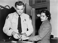 Mrs. Rosa Parks being fingerprinted in Montgomery, Alabama